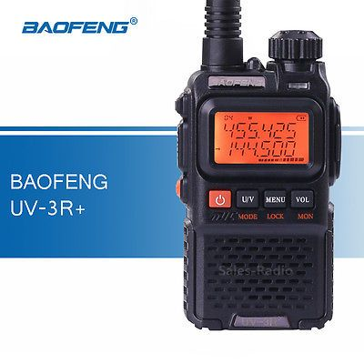 Baofeng UV-3R Mini Walkie Talkie Dual Band UHF//VHF Two-Way Radios transceiver
