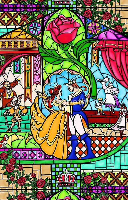 Patterns Of The Stained Glass Window Iphone 12 Soft By Storybeth In 2021 Beauty And The Beast Wallpaper Beast Wallpaper Disney Stained Glass