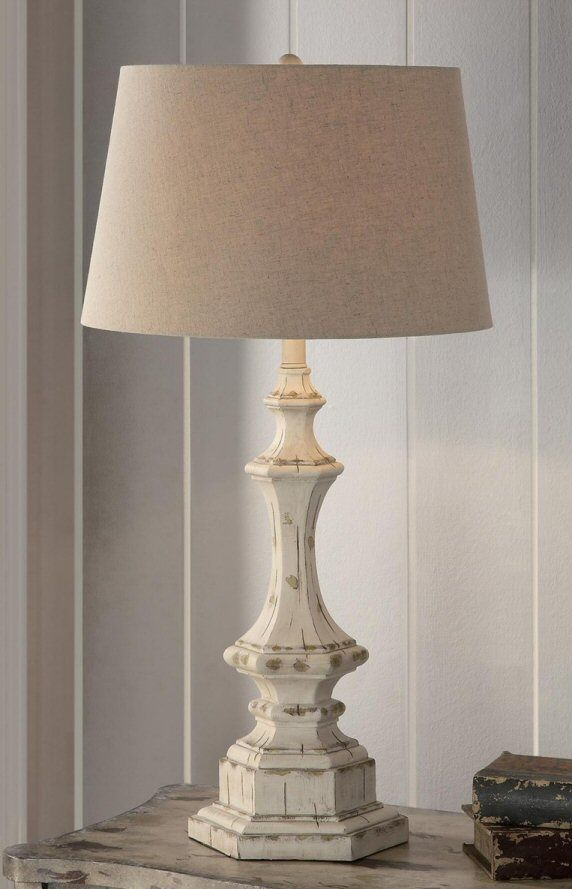 Wooden Column Table Lamp Farmhouse Lamps Rustic Lamps