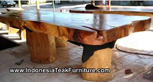 Wooden Dining Table Furniture From Indonesia Both Java And Bali. Large  Dining Table Made Of Teak Wood As Outdoor Furniture For Your Patio Dining  Table.