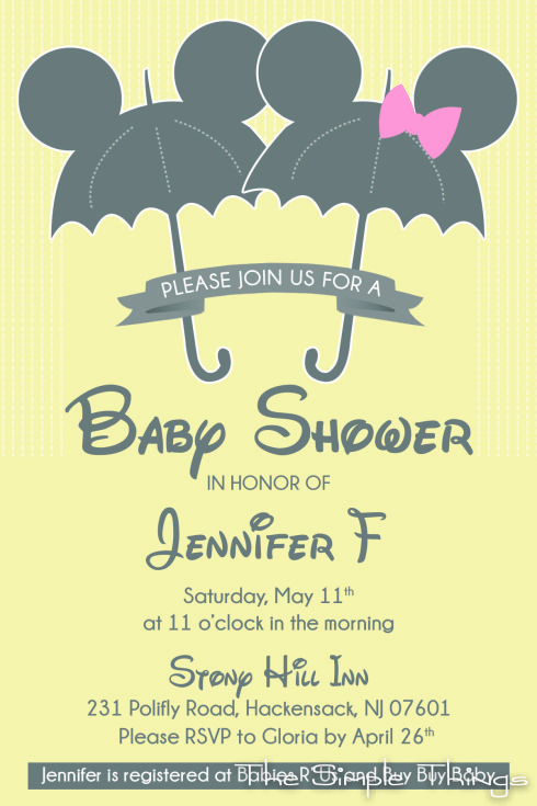 Lovely Disney Baby Shower Invitation @Mel Smith For When You Have A Baby!!