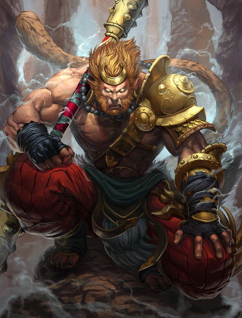 53f452baa Smite Sun Wukong by Brolo | Best Digis | Monkey king, Fantasy art ...