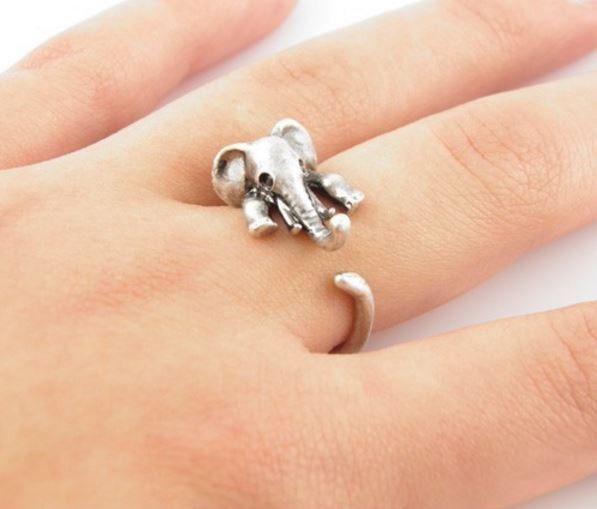 Cute Stylish Elephant Ring