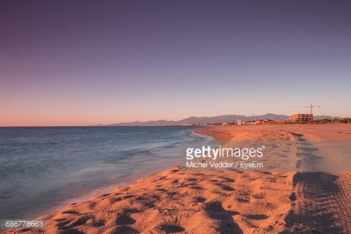 The beach @ Sainte Marie Plage, France stock photos