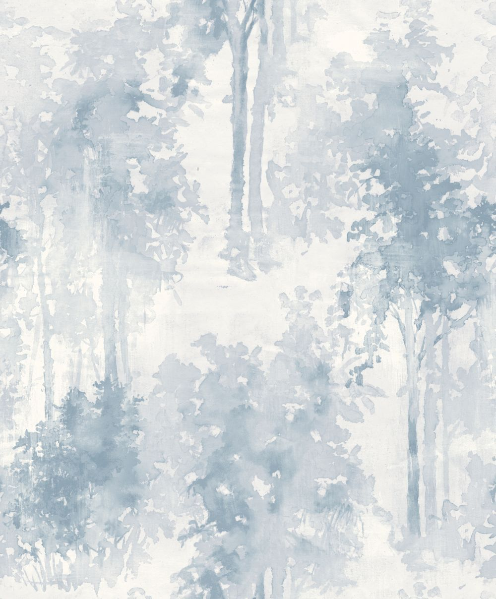 Galerie Watercolour Forest Blue Wallpaper Main Image Watercolor