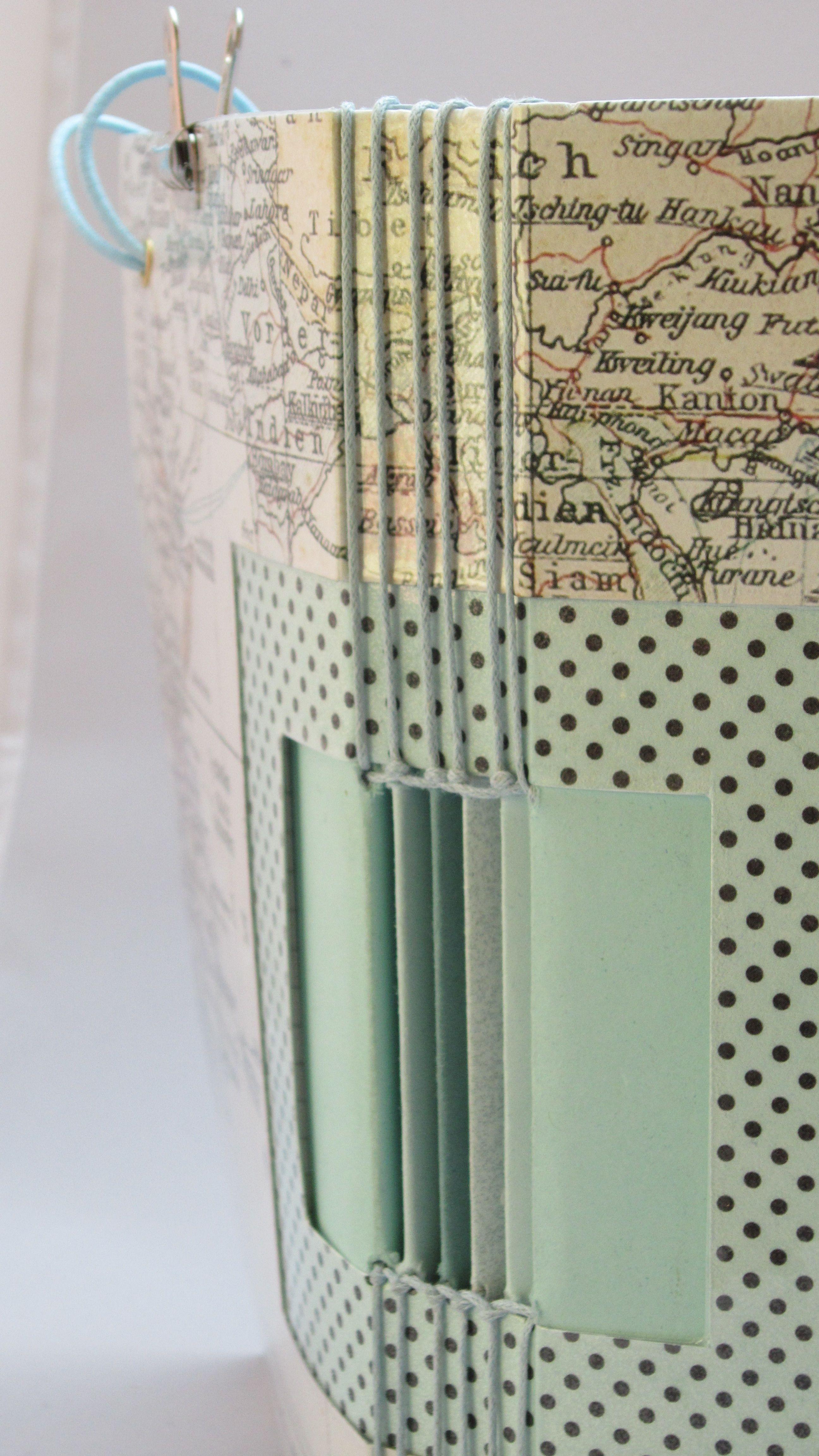 vorder und r ckseite reise journal mit bindung basteln buch buchbindung f chermappe heft. Black Bedroom Furniture Sets. Home Design Ideas