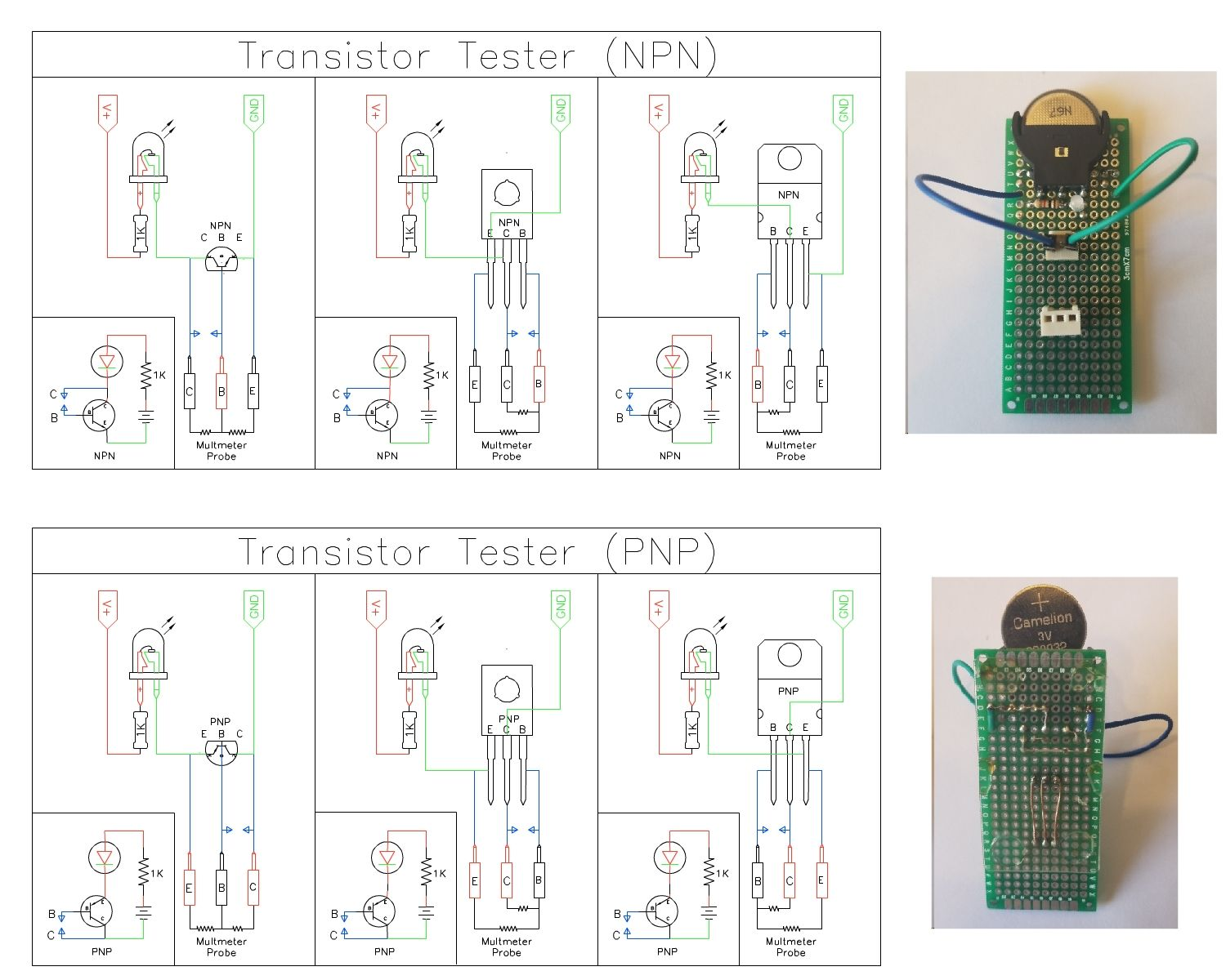 Transistor Tester Npn Pnp Circuit Jumper Board Diy Electronic Prox Switch Wiring Diagram Projects Electronics