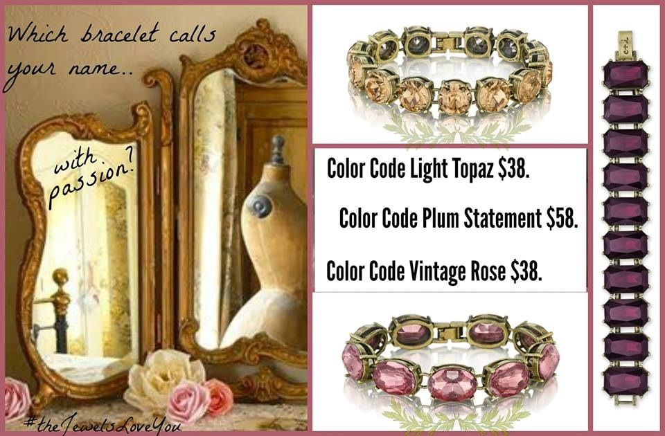 I just got the Color Code bracelet in light topaz (yellow) $38 today!  #Gorgeous www.chloeandisabel.com/boutique/christygustin