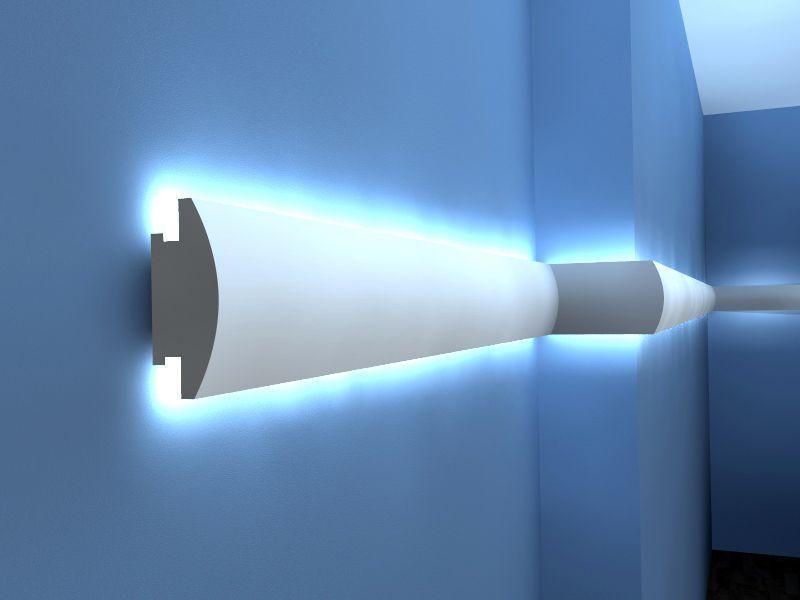 Indirekte Wandbeleuchtung LO 27   Stuck LED
