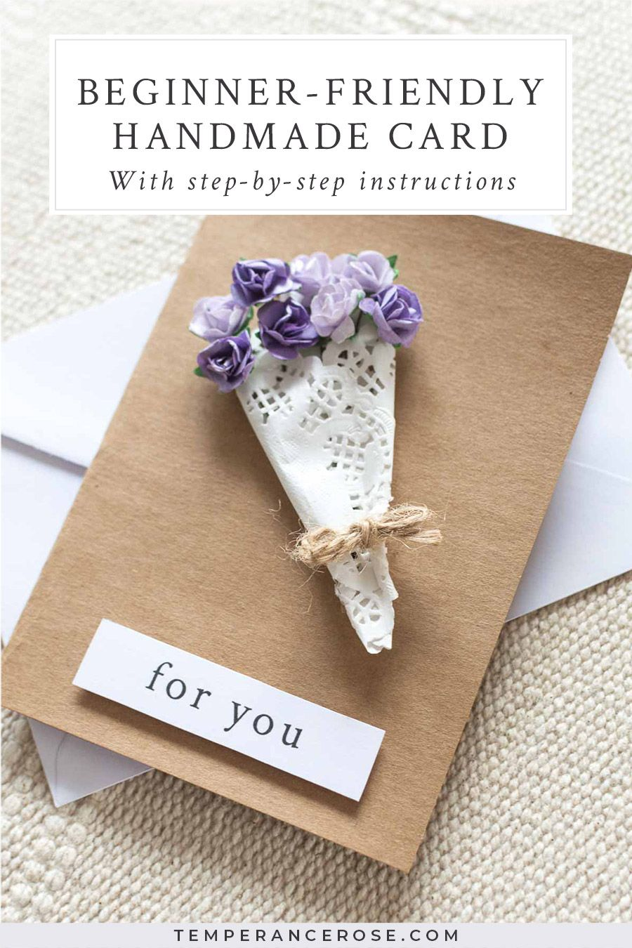 Diy Beginner Friendly Floral Bouquet Greeting Card Diy Cards