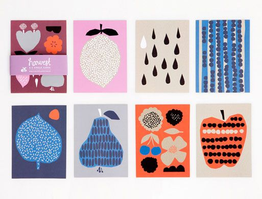 Kort- og plakatserien Harvest fra Darling Clementine - WhatWeDo København