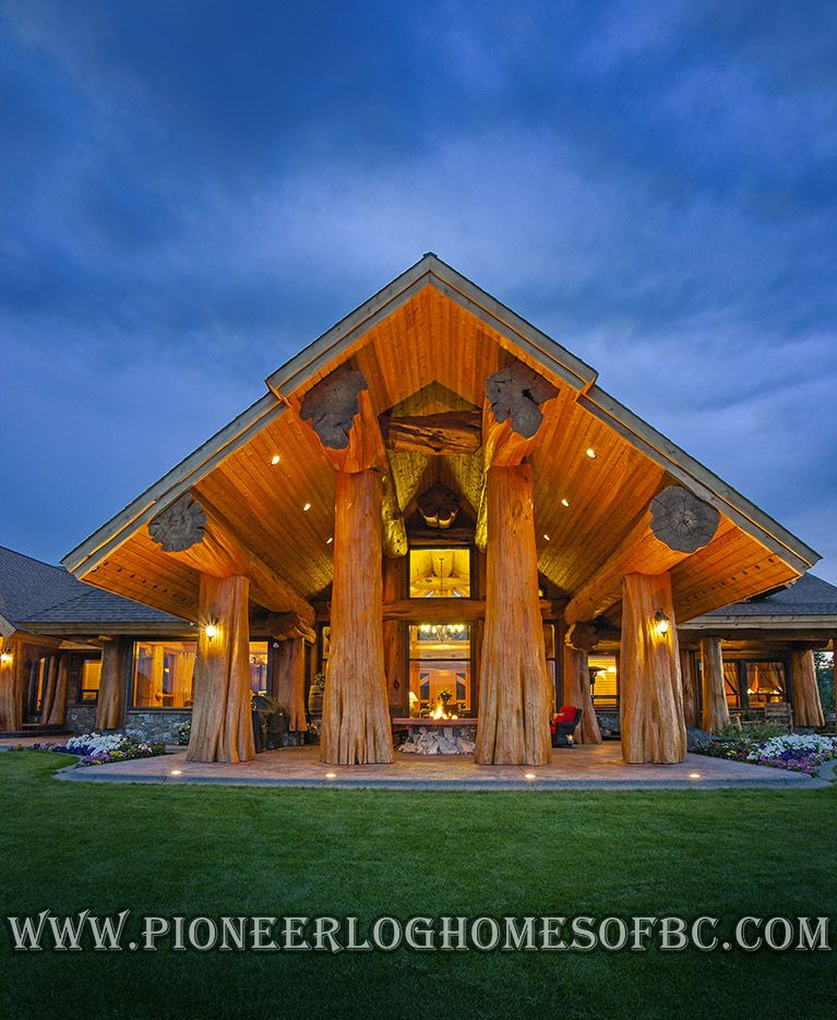 Log Post and Beam Homes Picture Gallery | Log Post & Beam Construction | BC, Canada #logcabinhomes
