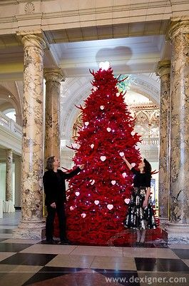 2013 Christmas Tree: Red Velvet Tree of Love,  Enjoy Christmas Love in 2013 with your love