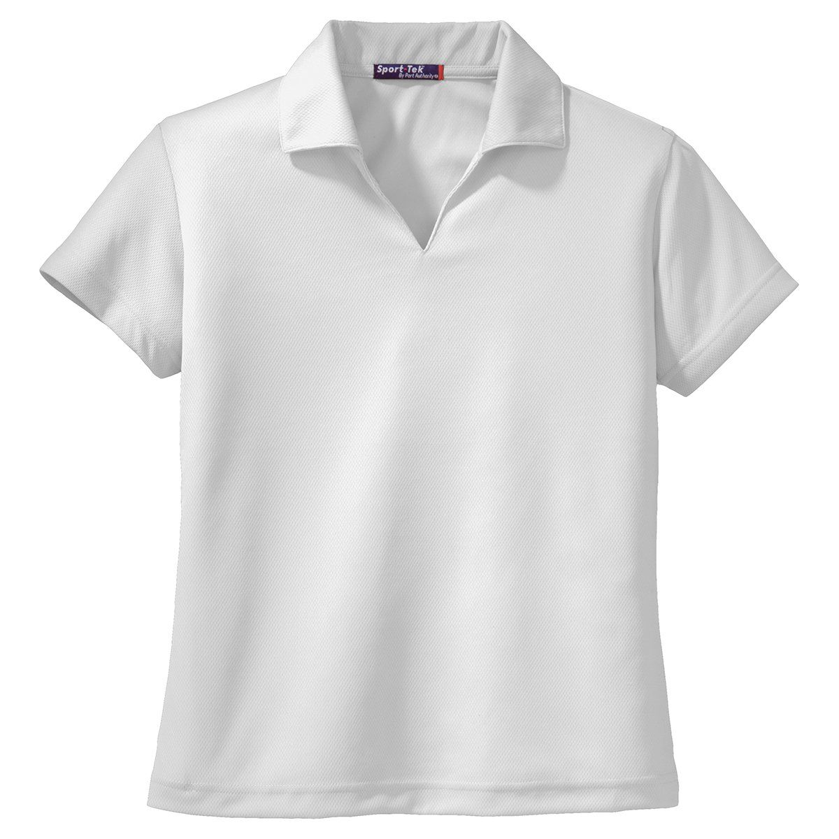 Sport Tek Womens White Dri Mesh V Neck Polo Products