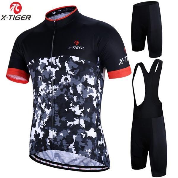 X-Tiger 2018 Pro Cycling Set MTB Bike Cycling Jerseys Set Racing Bicycle  Clothes Pro Cycling Clothing Set Maillot Ropa Ciclismo  cycling  ciclismo   maillot ... 5d939a0d9