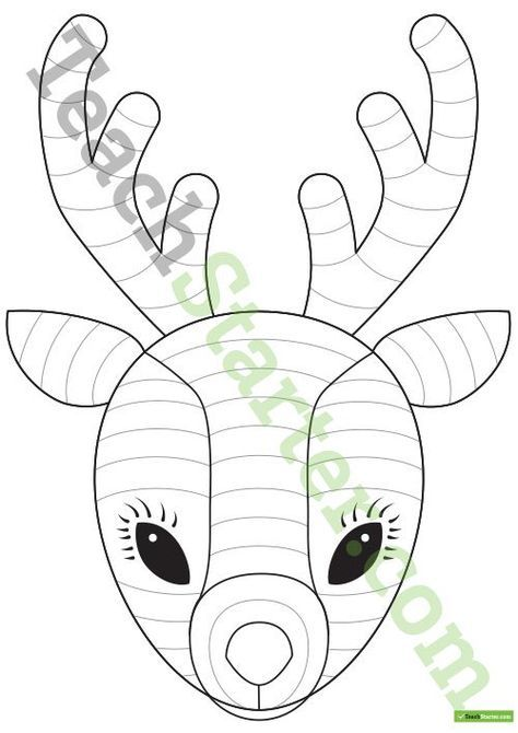 Funky Reindeer Craft Template Teaching Resource | Teach Starter