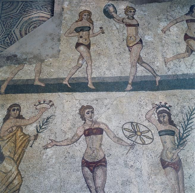 Piazza-Armerina, province of Enna Sicily,first ladies in bikini ever...