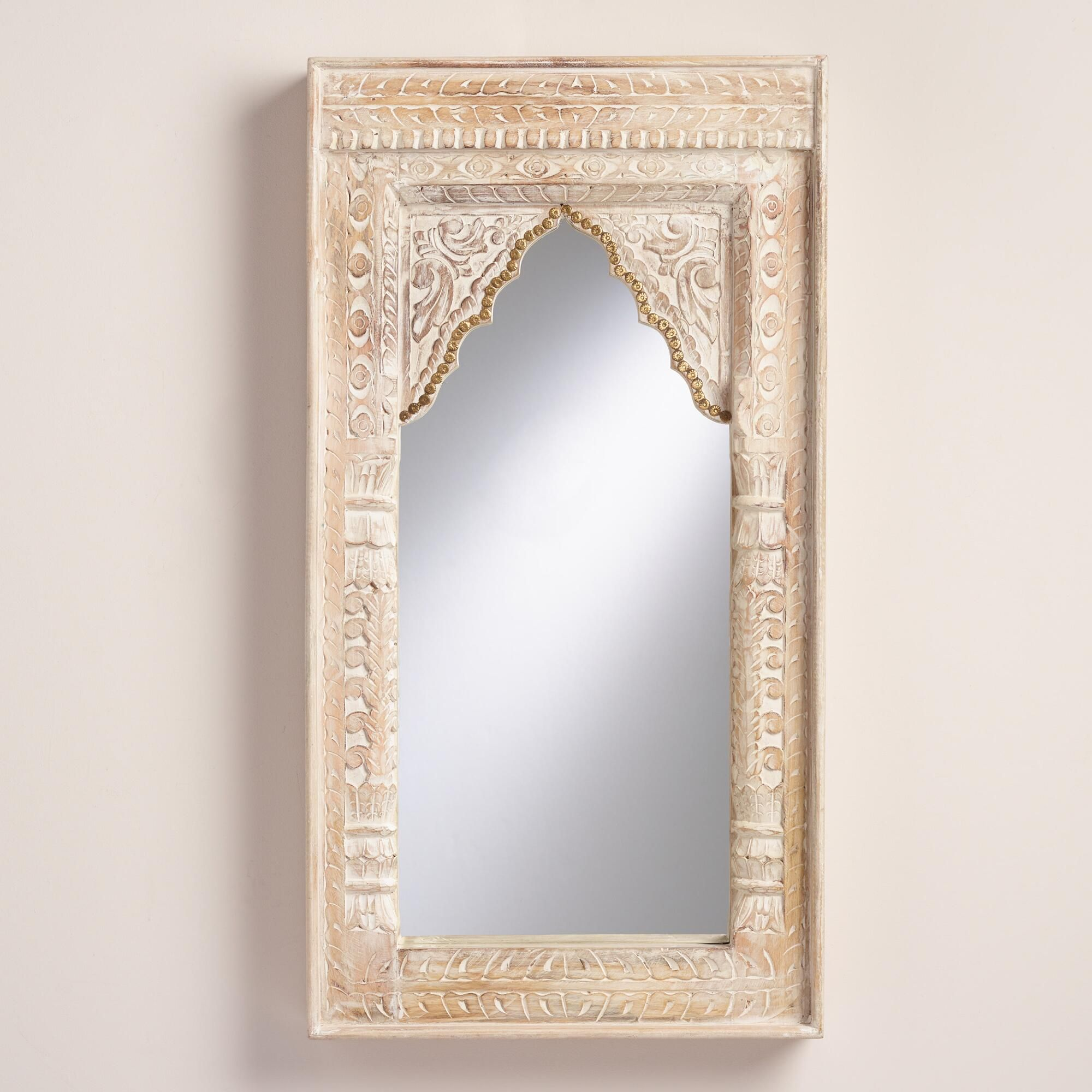 Oversized Ivory Carved Wood Mirror Wood Mirror Wooden Mirror Barn Wood Frames