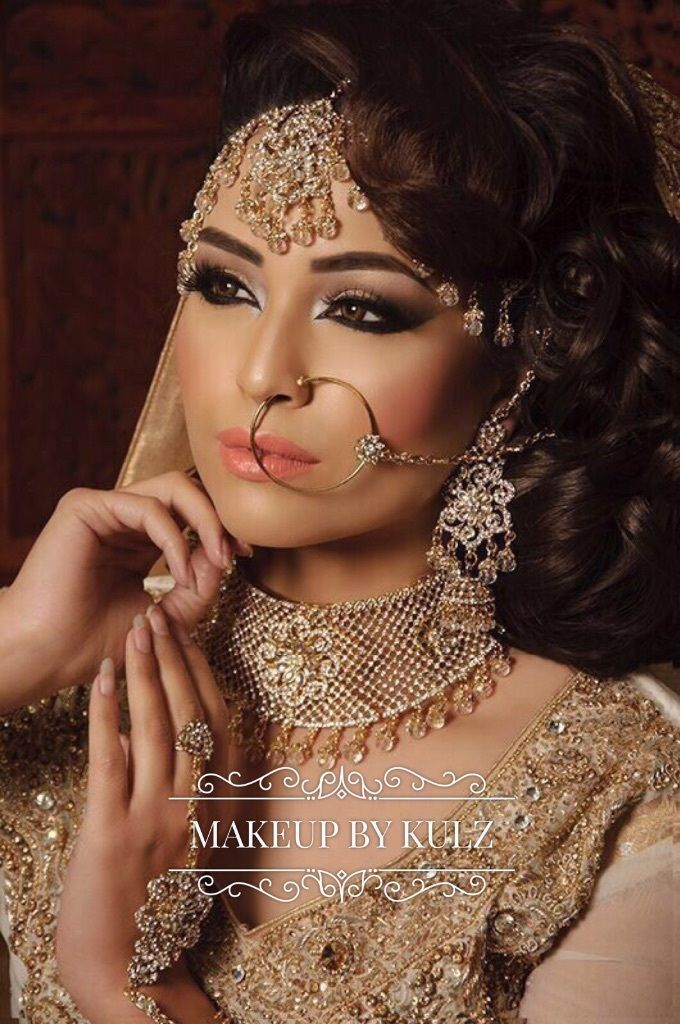 Indian Pakistani Bridal Makeup Artist Party Makeup Beautician Hairstylist Trained By Makeup By ...