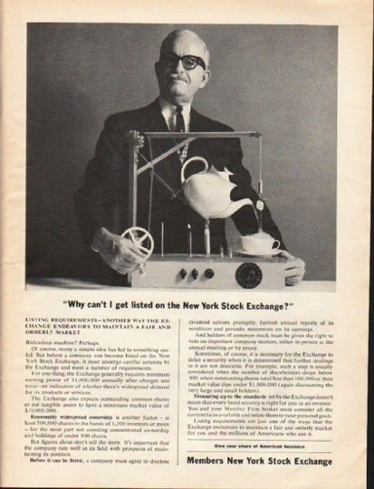 1962 Members New York Stock Exchange Vintage Ad Why Can T I Get