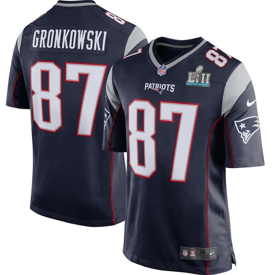 051c3e44a Men s XL Patriots Rob Gronkowski Official Nike Super Bowl LII Bound Game NWT   Nike  NewEnglandPatriots