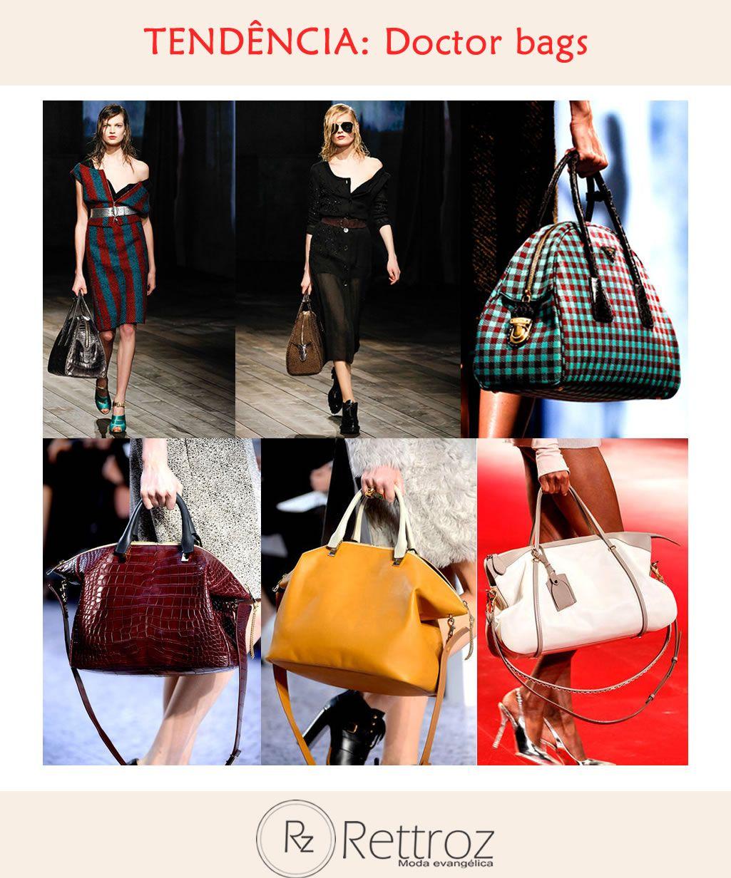 c801bfd7fc602 Dentre tantos tipos de bolsas femininas vistas nos diversos desfiles da  temporada, o modelo que promete é do tipo mala de viagem, as clássicas  doctor bags.