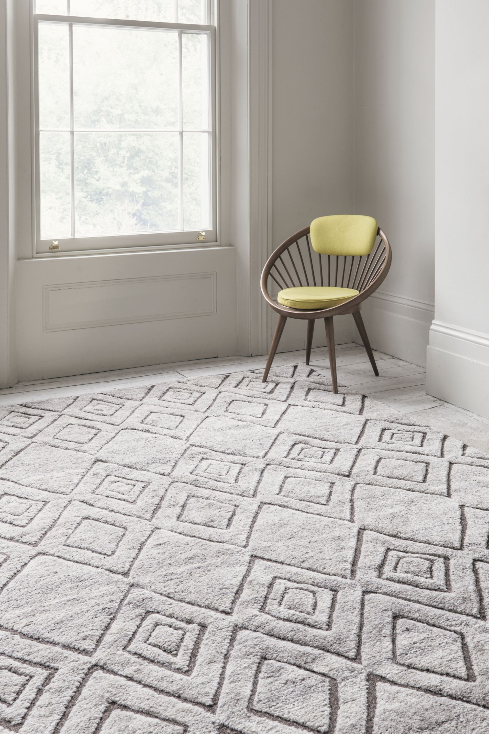 The Natural Slate Berber Knot Gazelle Floor Rug By Armadillo Is Hand Woven Under Fair Trade Conditions In India