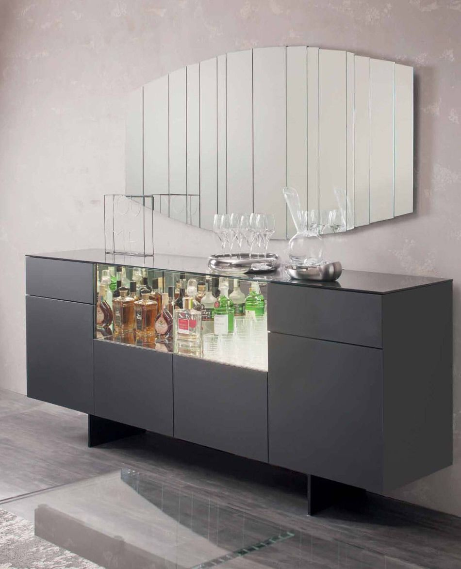 Continental Sideboard Contemporary Home Bar Design At