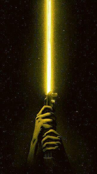 Star Wars Lightsaber Yellow Sabre De Luz Amarelo Geek Nerd Sabre De Luz Papel De Parede Star Wars Imagens Star Wars