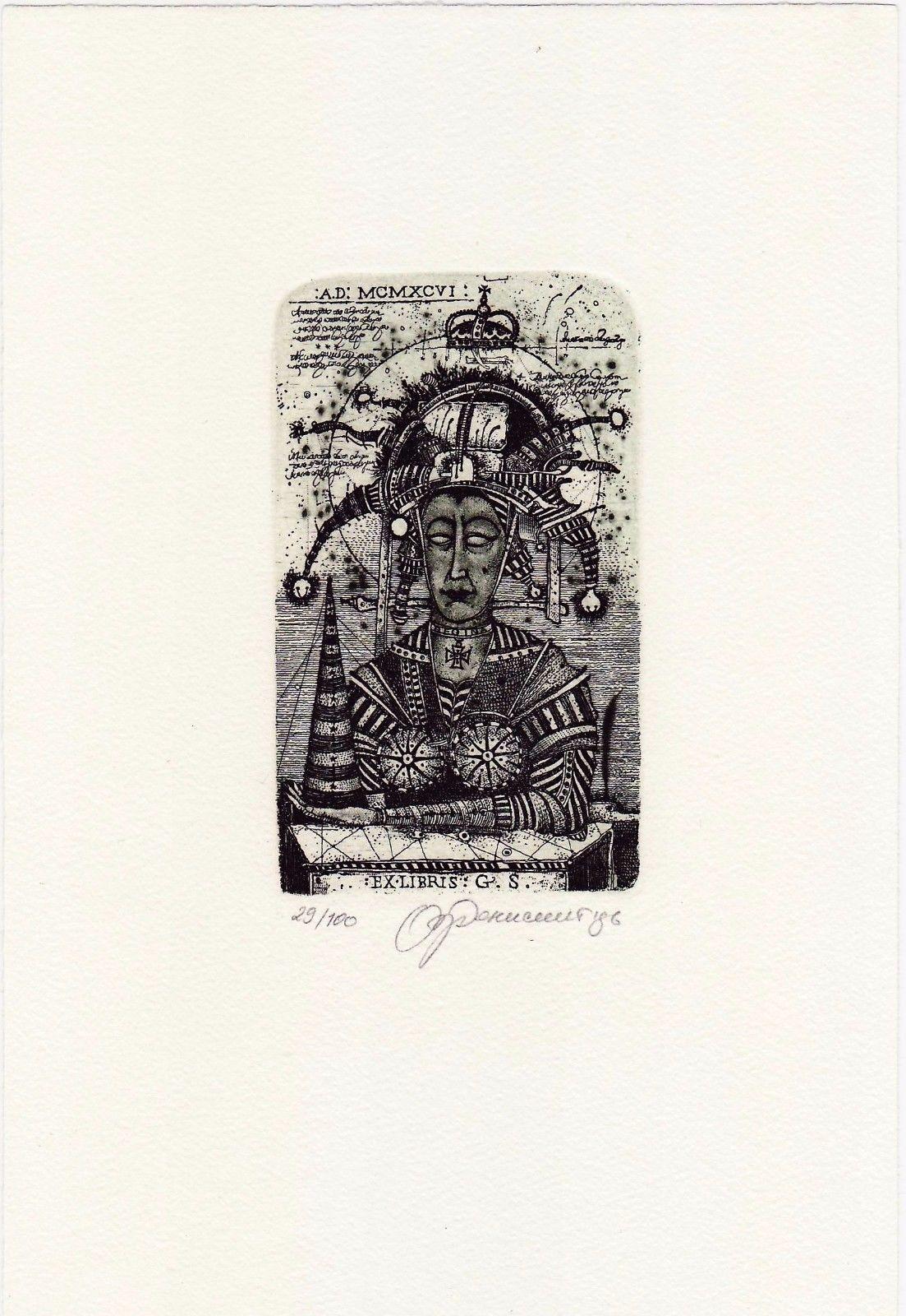 Oleg Denisenko: Exlibris for G.S. | eBay
