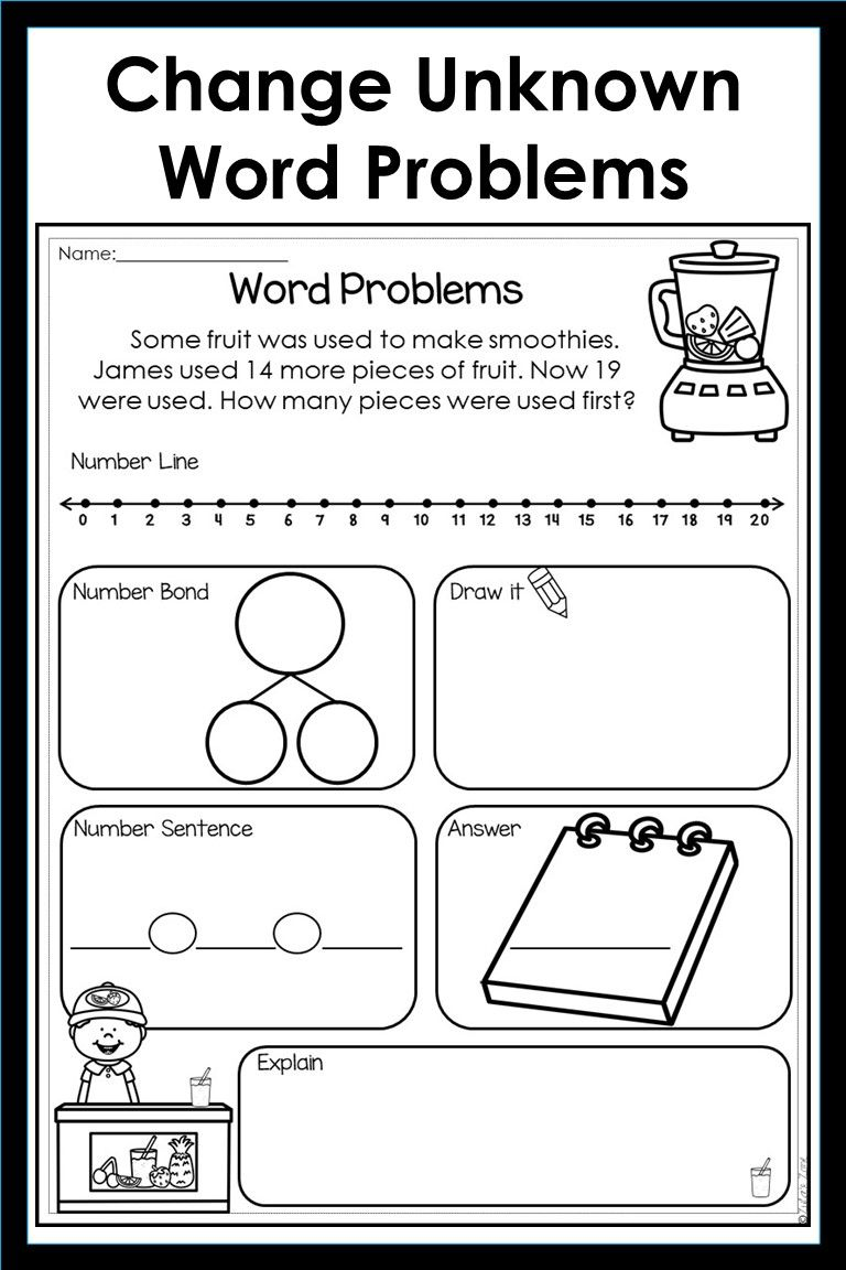 Addition And Subtraction Word Problems Bundle Distance Learning Word Problems Word Problems Kindergarten Word Problem Worksheets Kindergarten word problems worksheets free