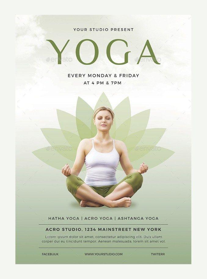 Yoga Flyer Templates Free Download 23 Yoga Flyer Psd Templates