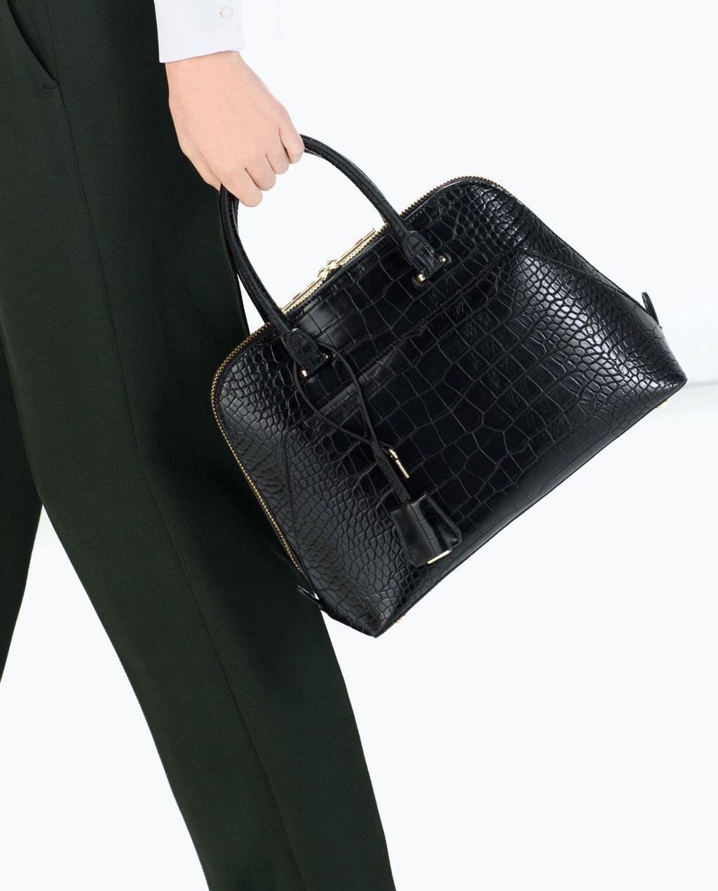 f6e5d9722902c City-Tasche mit Kroko-Finish-Handtaschen-Damen-SHOES   BAGS