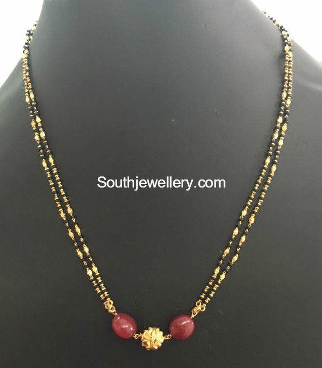 Light Weight Black Beads Mangalsutra Chains Photo Ethnic