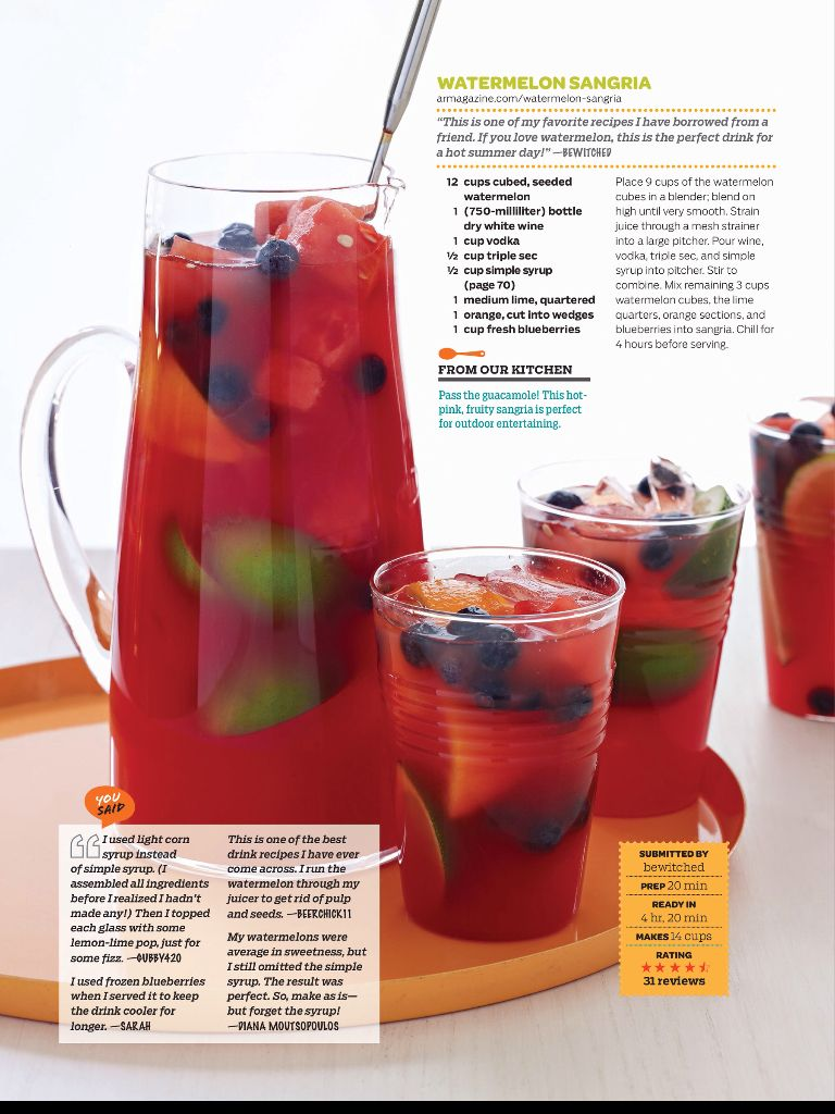 Watermelon Sangria Watermelon Sangria Blueberry Sangria Perfect Drinks