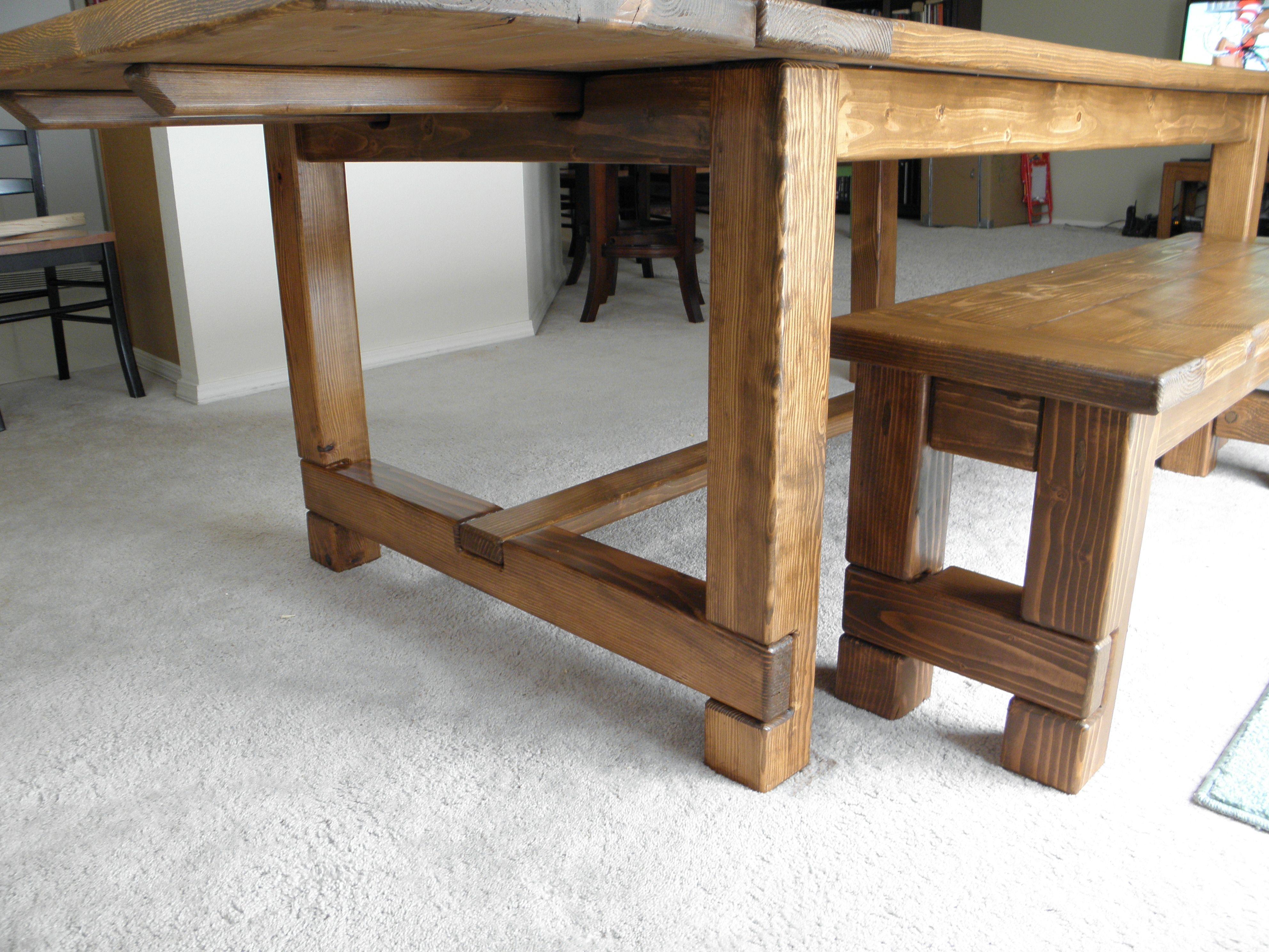 Ana White Kitchen Table Bench Farmhouse Table With Bench