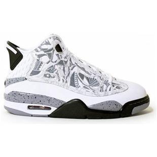 Nike Air Jordan Dub Zero WhiteRed Black Cement Grey Shoes For Men