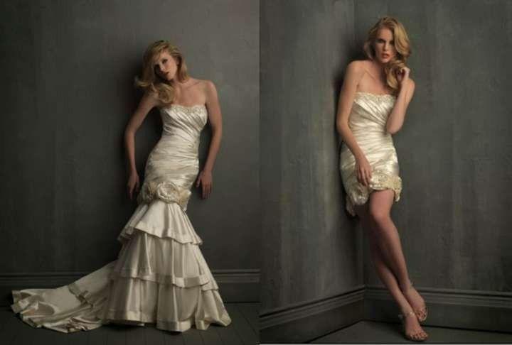 Allure Bridals 8700 Mermaid Wedding Dress Detachable Skirt