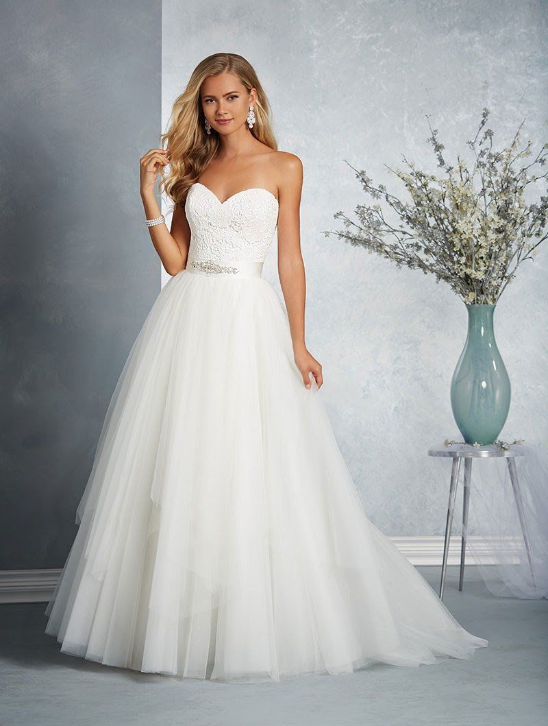 Alfred Angelo Bridal Gown 2606 Size 12 Ivory Two piece