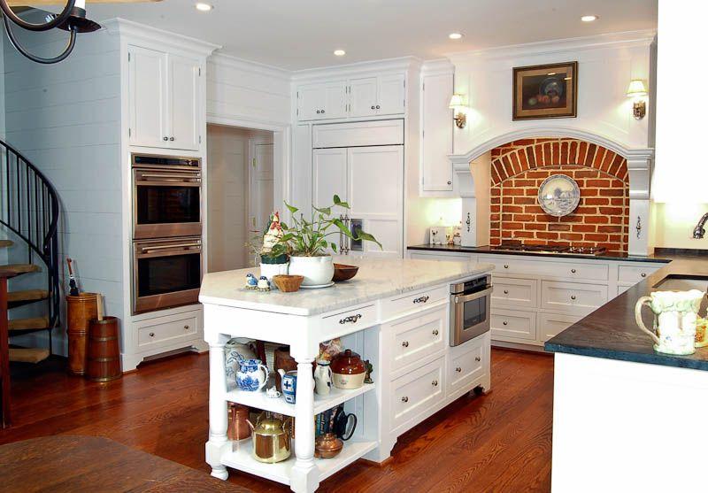 An Atlanta American Classic Painted White Kitchen. ARCHITECT: Bradley E.