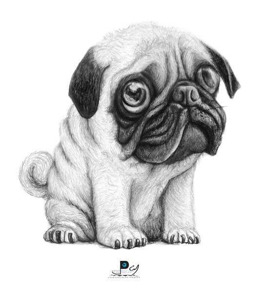 Pug Pug 01 Art Print | Puggles | Pinterest | Pug, Dibujo y Animales