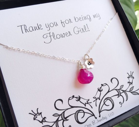 Wedding Gifts For Girl: Personalized Flower Girl Or Junior Bridesmaid Necklace