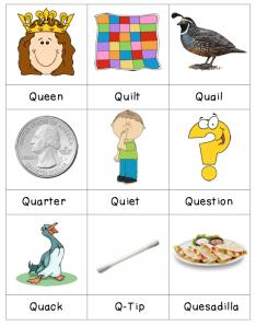 Words That Have The Letter Q.Letter Q Preschool Letter Crafts Preschool