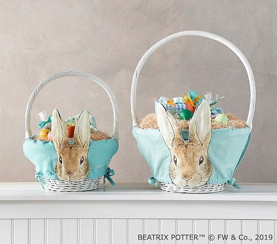 Beatrix Potter Aqua Rabbit Easter Basket Liners In 2020