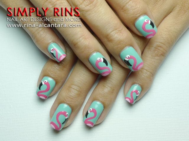 Fun With Flamingos Nail Art Design Ridiculous Nail Stuff