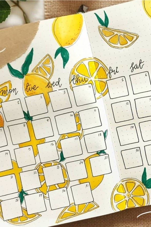 25+ Best Lemon Themed Bullet Journal Spread For 2020 - Crazy Laura