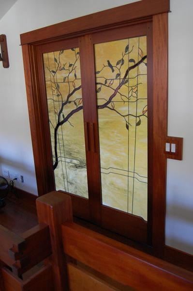 Folding Home Decorative Stained Glass Interior Doors For Wardrobe ...
