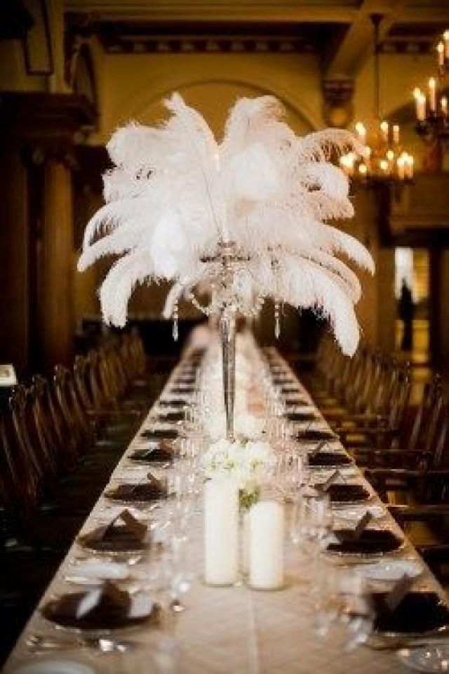 Awesome Feather Plume Centerpiece 20S Wedding Event Design Download Free Architecture Designs Pendunizatbritishbridgeorg