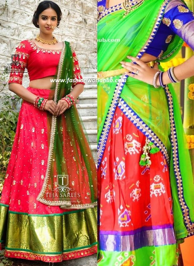 Halfsaree or Lehenga honi is the traditional outfit which ...