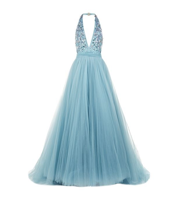 Jenny Packham Halter Neck Tulle Gown available to buy at Harrods ...